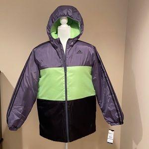NWT Boys Hooded Adidas Coat
